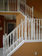 Lovely staircase leading to 3 good-sized bedrooms